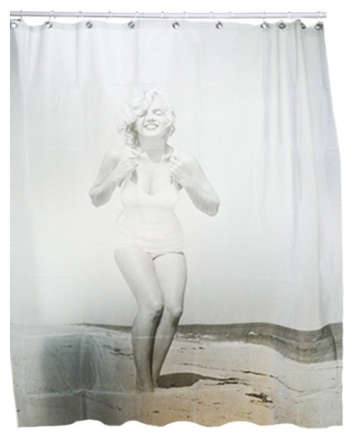 "new 71"" sexy marilyn monroe beach image bathroom shower curtain w"