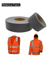 Gray Reflective Warning Tape With EN471 Certification Sew On Garments For Safety Free Shipping