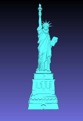 statue of liberty 3d model stl format for 3d printer in woodworking
