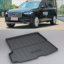 LUCKEASY For Volvo XC90 2016-18 Non-Slip Waterproof 3D TPO Trunk Boot Cargo Mat Recycled Durable Car-styling