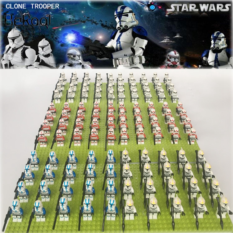 Star Wars IMPERIAL SW201 White Clone Trooper SW211 With 6pcs Weapons Storm Clone Trooper Compatible Block Kids Toy 20pcs/lot
