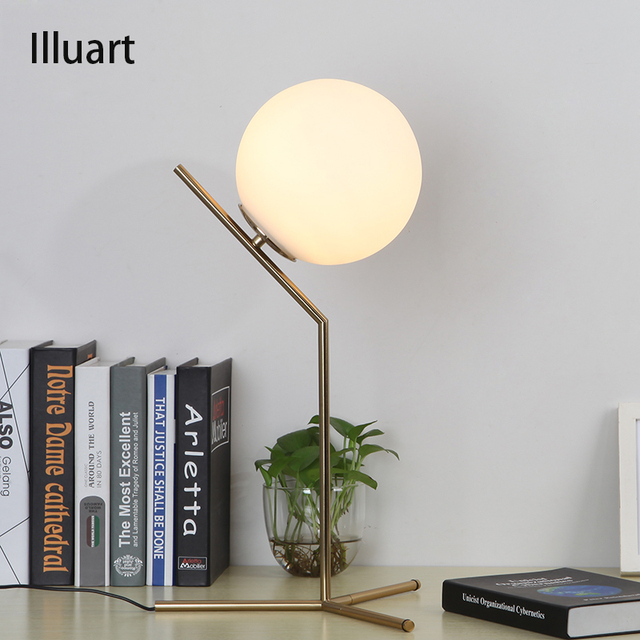 Glass ball lamp beside table lamps bedroom decoration lighting study glass ball lamp beside table lamps bedroom decoration lighting study ready desk lamp contemporary eu mozeypictures Gallery