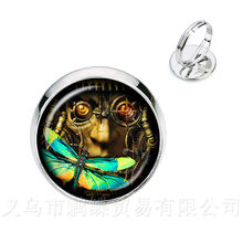Romantic Charming Summer Style Pretty Flowers Purple Dragonfly Rings Inspired By Nature Animals Insects Rings(China)