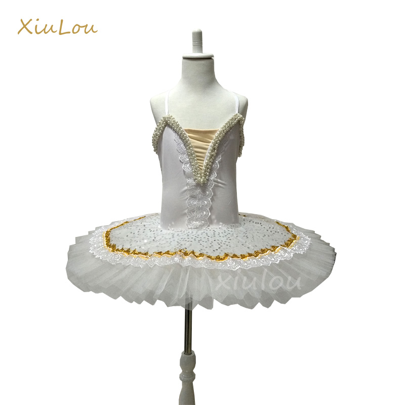 pancake tutu children ballet tutu costume for kids white professional ballet tutu dress girls vestidos para ballet