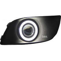 eOsuns Innovative COB angel eye led daytime running light DRL + halo Fog Light + Projector Lens for Suzuki liana 2005 09