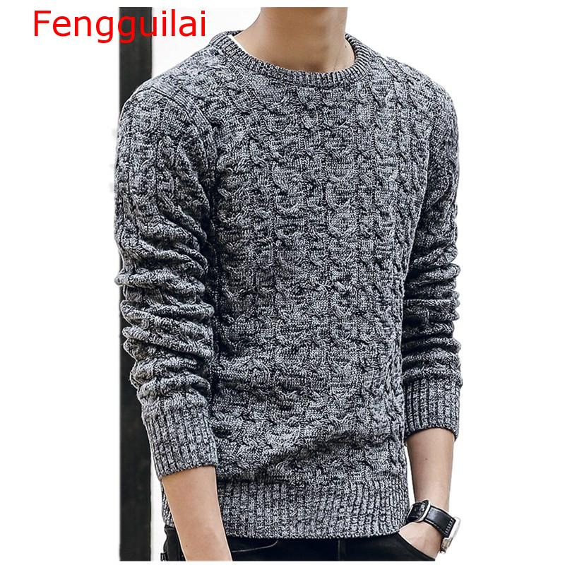 Fengguilai Mens Sweaters 2019 New Fahsion O Neck Winter Sweater Men Pullover Long Sleeve Casual Men Jumper Sweater Fashion Cloth