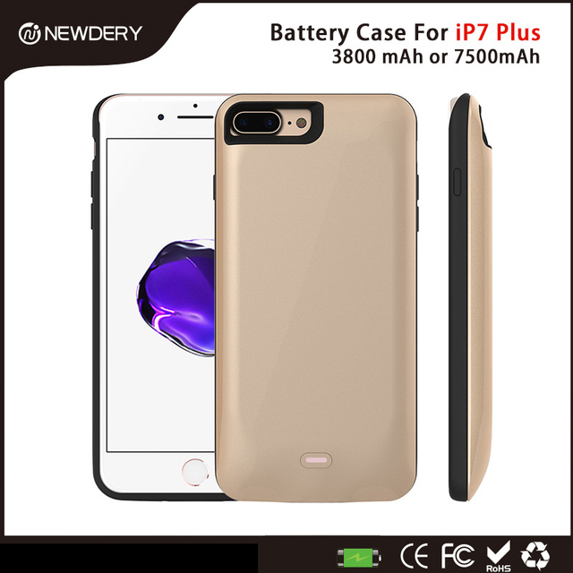 For i7 plus power case Original Newdery Ultra-Slim Extended Battery Case for iPhone 7 plus 3800mAh 7500mAh Capacity power bank