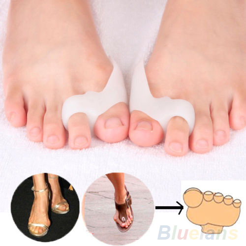 1Pair Silicone Shield Bunion Guards Pad Cushion Aid Toe Separators Pain Relieve 2MF1