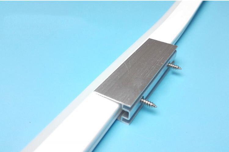 5sets Aluminum Holder Clip Fixed Mounted Bracket + Screw For 12V 24V 220V 240V 110V 120V Led Neon Light Strip Clips.