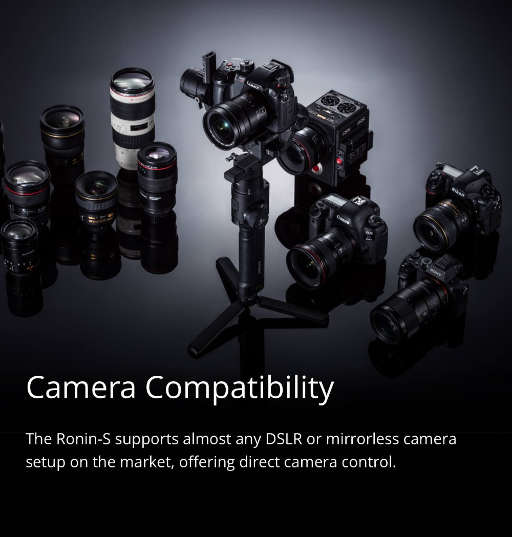Ronin S Standard Kit and Essentials Kit Superior 3-Axis Stabilization Camera Control Fine Focus Control in stock brand new