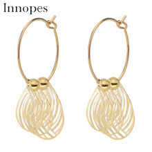 Innopes Womens Fashion Acrylic Cutout Leaf Earrings Vintage Wedding Gold dangle