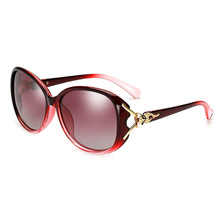 Uv400 fox leg sexy women brand design big frame gradient lens black sun glasses female High quality