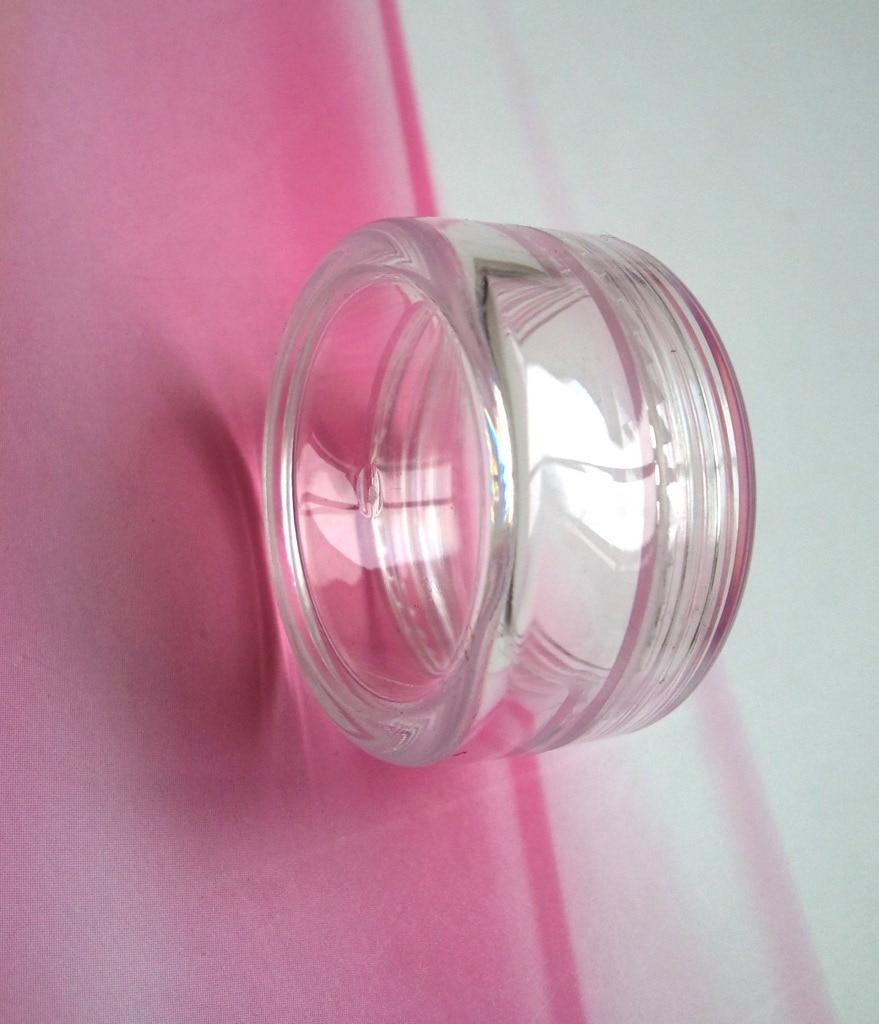 Купить с кэшбэком 100PCS 3G Transparent Cream Jar, 3CC Mini Empty Clera Sample Container,Mask/Eye Cream Sub-bottling,Empty Cosmetic Container