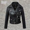 Черный PU кожаные куртки и пальто женщины мотоциклетная куртка весте ан cuir femme cuero mujer блузон Бесплатная доставка LT453 cazadora