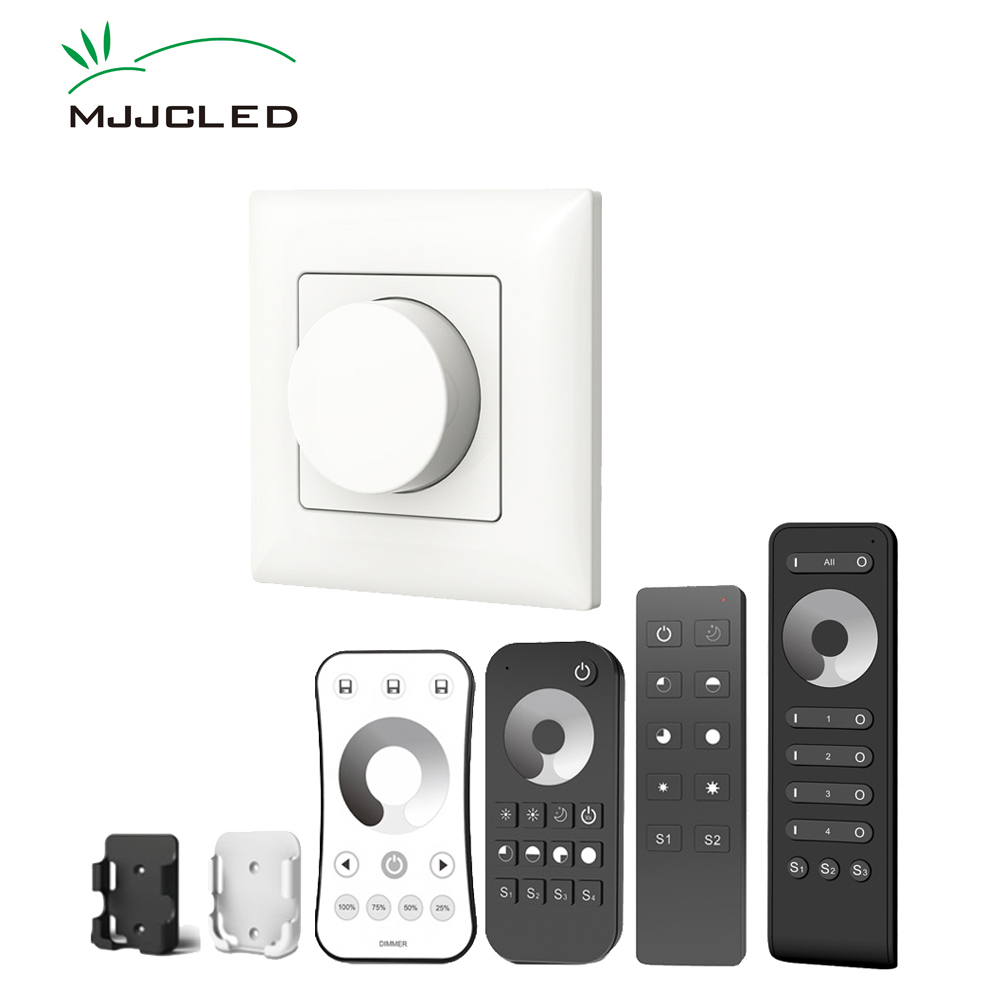 Dimmer LED 220V 230V 110V AC Triac Wireless RF Dimmable Knob Light Switch EU With 2.4G Remote Controller For LED Bulb Lamps KS