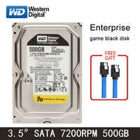 WD black disk 500GB internal hard disk 3.5 7200RPM SATA3 Game mechanical HDD 6Gb/s 64MB HD hard disk for desktop computers