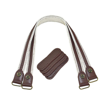 1Pair Leather Bag Handles replacement Fabric Shoulder Strap DIY Handbag Belt Durable Handle for Girl bag accessories