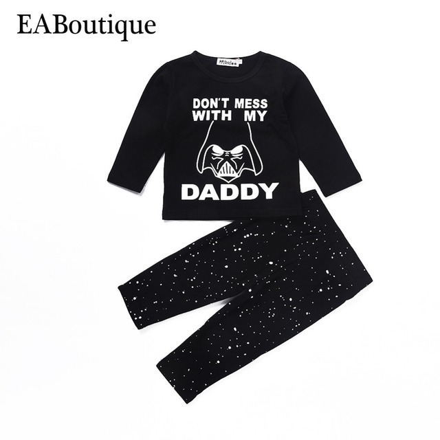 EABoutique Fashion Darth Vader printed with letter DONT MESS MY DADDY baby boy clothes newborn outfit