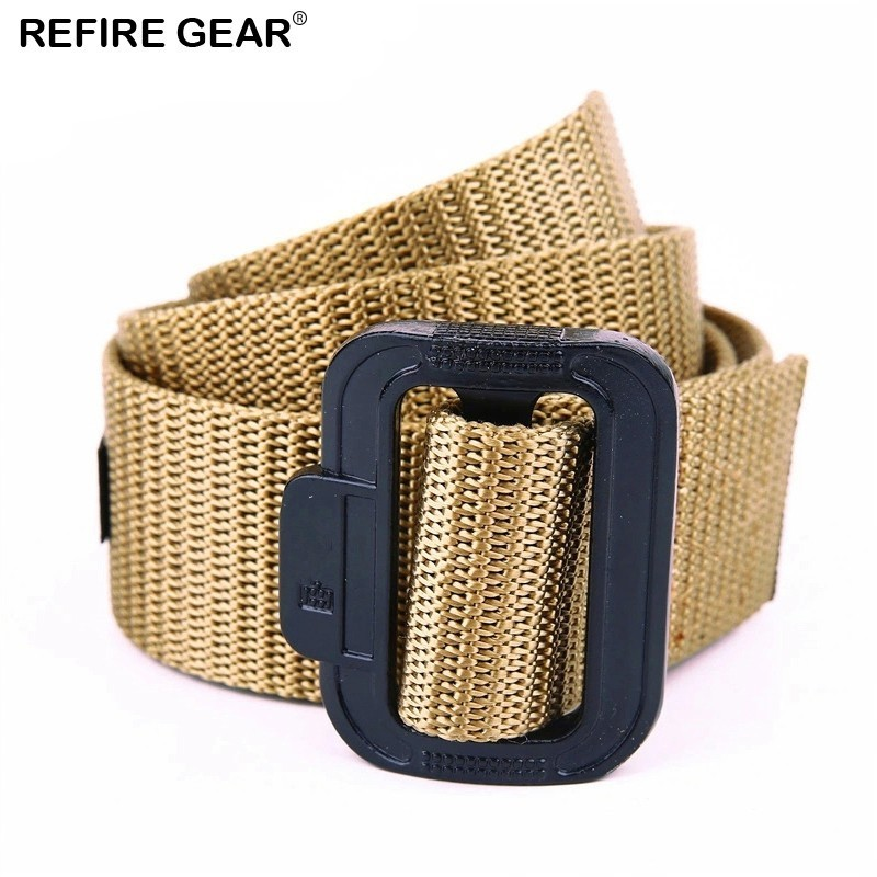 Initiative Refire Gear Outdoor Tactical Nylon Waist Belt Men Sports Quick Dry Heavy Duty Belt Metal Buckle Survival Adjustable Strap Belt