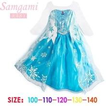 2016 Princess Girl Dress snow queen Cosplay Dress Costume Brand children clothing baby Kids dresses fantasia infantis vestido  стоимость