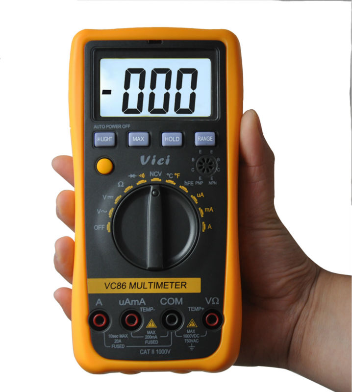 Auto Range Digital Multimeter VC86 3 1/2 1000V  DMM Temperature Meter w/NCV hFE Test & LCD Backlight Multimetro Tester  цены