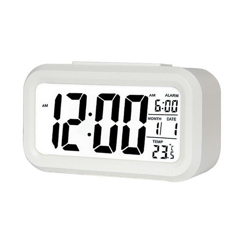 1 Pcs Led Digitale Wecker Elektronische Smart Stumm Uhr Hintergrundbeleuchtung Display Temperatur & Kalender Snooze Funktion Wecker Gute QualitäT
