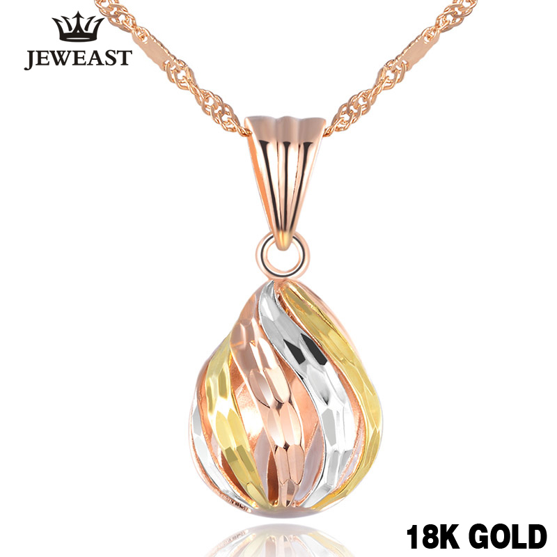 Popular 18k Rose Gold Charm Pure Solid Pendant Jewelry Lucky Beads Women Girl Elegant Fashion New Design Classic 2017 Welcome