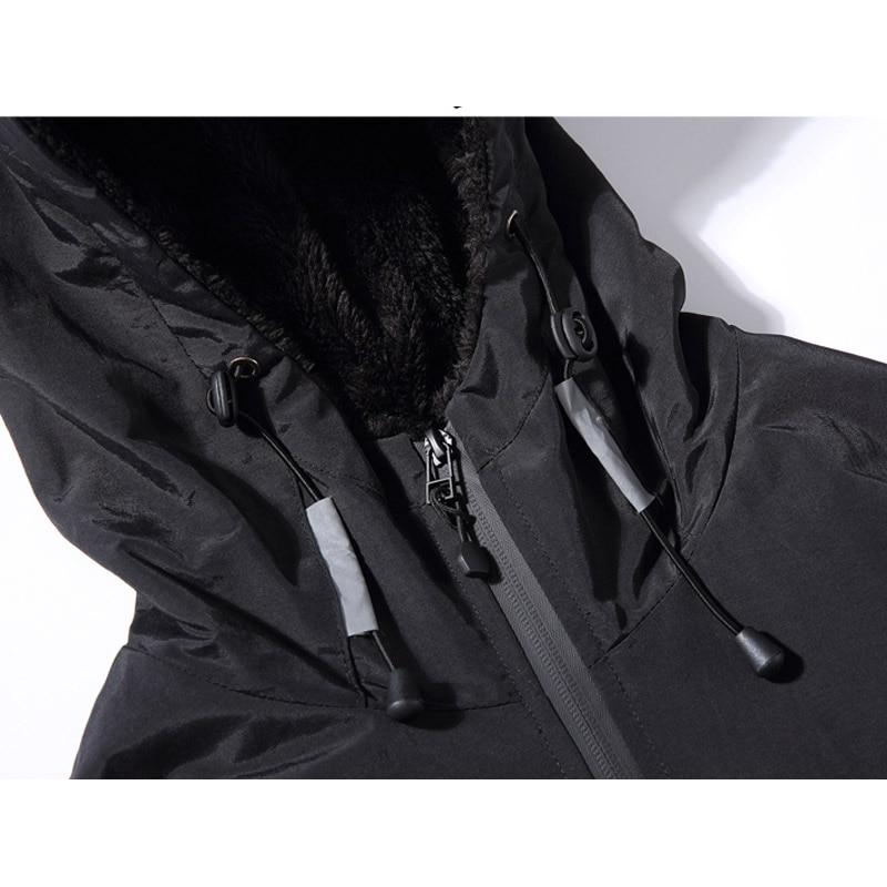 Hiver nouveau Design Simple épais chaud à capuche veste hommes noir gris couleurs jeunesse mode lâche coupe vent vestes manteaux 4XL 5XL - 4