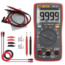 ANENG AN8008 Digital Multimeter 9999 Counts With Backlight AC/DC Volt Amp Ohm Capacitance Frequency Diode Tester Multi Meter aneng an8009 auto range digital multimeter 9999 counts backlight ac dc ammeter voltmeter ohm transistor tester multi meter