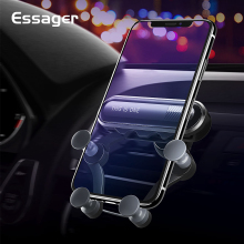 Essager гравитационный Автомобильный держатель для телефона на магните для iPhone samsung, устанавливаемое на вентиляционное отверстие в салоне автомобиля Автомобильное Крепление, для сотового телефона держатель подставка для смартфонов стенд держатель мобильного телефона