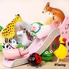 walking balloon animals toys infltable foil unicorn elephant horse duck cat frog dog cow dinosaur animal