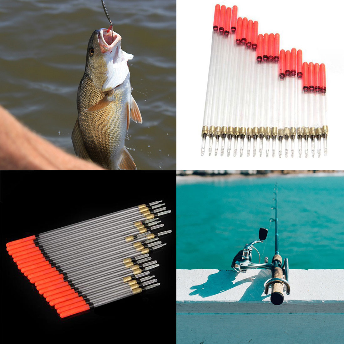 Fishing Floats Flotteur Buoy Tackle Accessories Floating Stem Tubes Kits