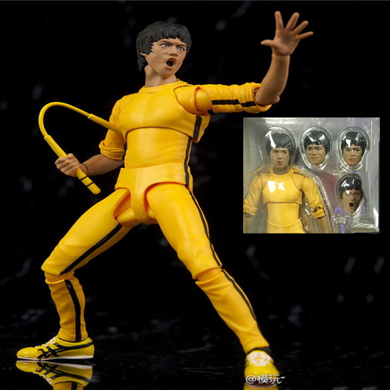1978 Game of Death Kung Fu Master Bruce Lee PVC Action Figure Collection Toys 1 6 scale the game of death bruce lee head sculpt