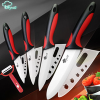 High Quality Kitchen Ceramic Knife Set 3 4 5 6 Inch White Blade Paring Fruit Vege