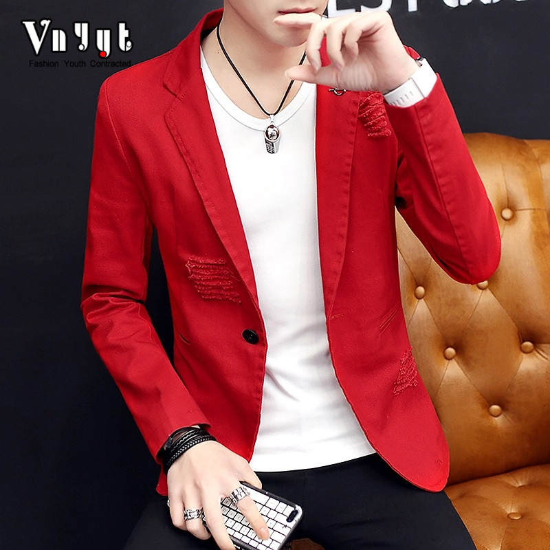 2020 Men Hole Character Blazer The New Spring Season Handsome Blazer Leisure And Fashion