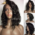 Natural Weave Short Bob Wigs 100% Virgin Brazilian Full Lace Wig With Baby Hair Glueless Human Hair Lace Front Wig
