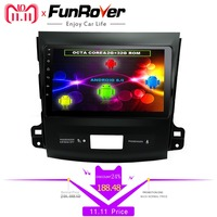 Funrover 8 ядер 9 Android8.0 Автомобильный dvd Радио gps navi мультимедиа для Mitsubishi Outlander 2014 4007 peugeot 2006 Citroen C Crosser