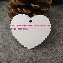 DIY Hand Made Garment Tag White Heart Tag Custom logo Cost Extra MOQ 1000 PCS Garment