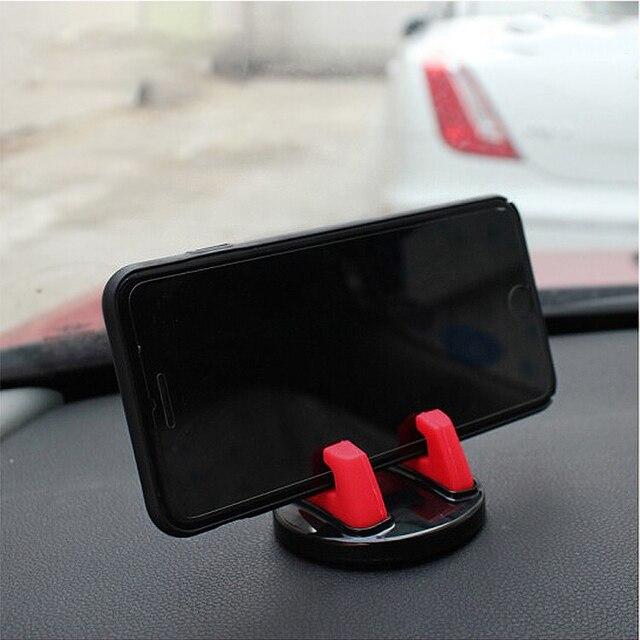 IKSNAIL 360 Degree Car Phone Holder Soft Silicone Anti Slip Mat Mobile Phone Mount Stands Support Car GPS Dashboard Bracket 4