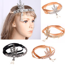 Fashion Women Hair Hoop Ladies Crystal Rhinestone Pearl Metal Rhinestone Head Chain Jewelry Headband Head Piece Hairbands 9.21(China)