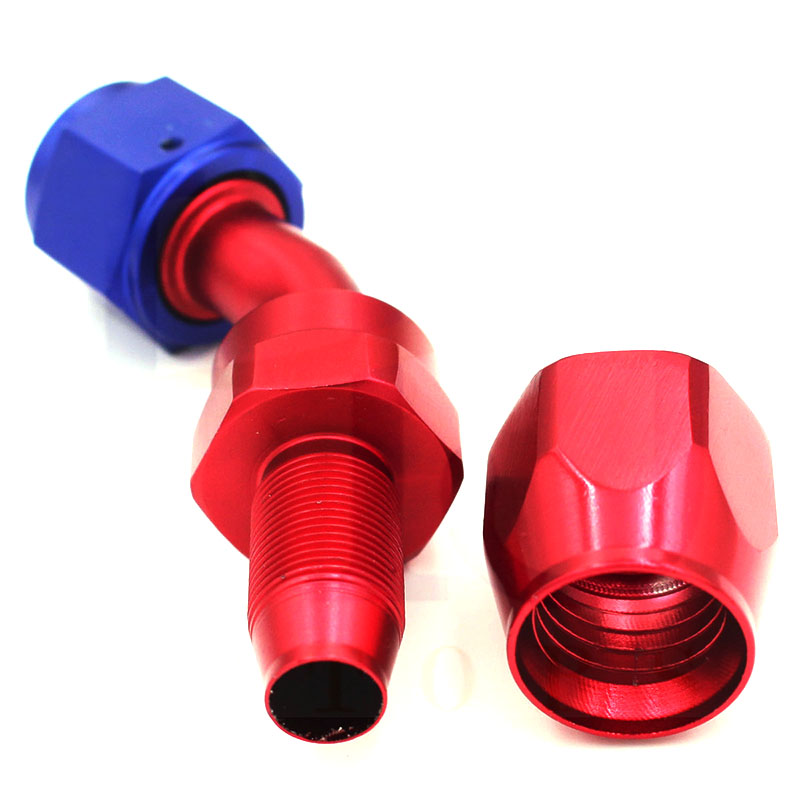 An4 45 Degree Aluminum Hose End Fitting Adapter Push On Lock Hose End For Oil Fuel Hose Line