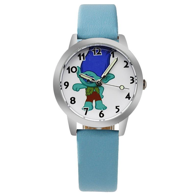 2019 Blue Cartoon Dial Child Watch Boy Long And Short Pointer Quartz Movement Clock Girl Holiday Gift Elogio Menino