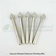 DIATOOL 5 шт.#17 Вакуумные Паяные алмазные шлифовальные наконечники для шлифования зонтика в форме смонтированных точек
