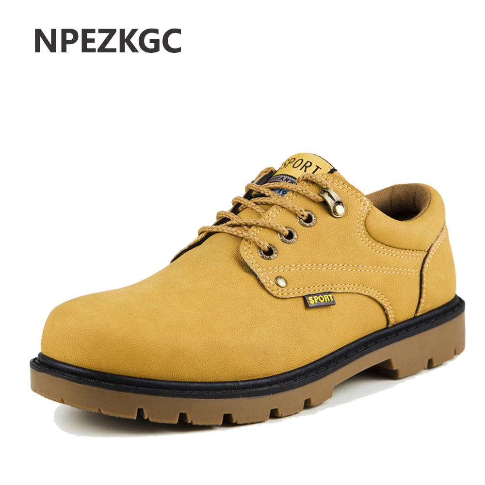 NPEZKGC Hot Sale Casual Shoes Men Spring Autumn Waterproof Solid Lace-up Man Fashion Flat With Pu Leather Shoe hireno car styling for toyo ta corolla 2011 13 headlights led super bright headlight drl xenon lens high fog lam