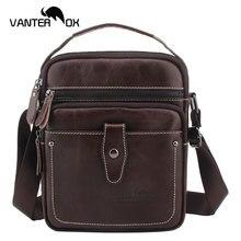 VANTER OX Men Cow Leather Messenger Bags Crossbody Business Casual Handbag Genuine Leather Shoulder Bag Large Capacity цена 2017