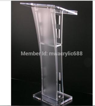 Free Shipping Beautiful Easy Cheap Detachable Acrylic Podium Pulpit Lectern image
