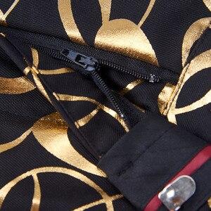 Image 4 - PYJTRL ยี่ห้อใหม่ชาย PLUS ขนาด 5XL ทองดอกไม้รูปแบบ SLIM FIT MENS ชุดกับกางเกงงานแต่งงานเจ้าบ่าว Tuxedo นักร้องเครื่องแต่งกาย
