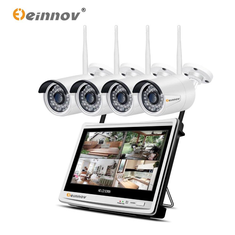 Einnov Cctv-System Security-Cameras Surveillance-4ch Nvr Wifi Night-Vision Outdoor 1080P