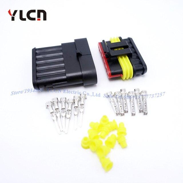 Aliexpress.com : Buy 1 Set 6 Pin/Way Auto Super Sealed Waterproof ...