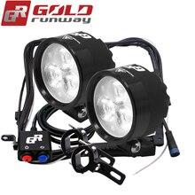 GOLDRUNWAY EXP3 15W 2400Lm Motorcycles Led Headlight Lamp Scooters Fog Spotlight 6000K White Working Spot Light 12V